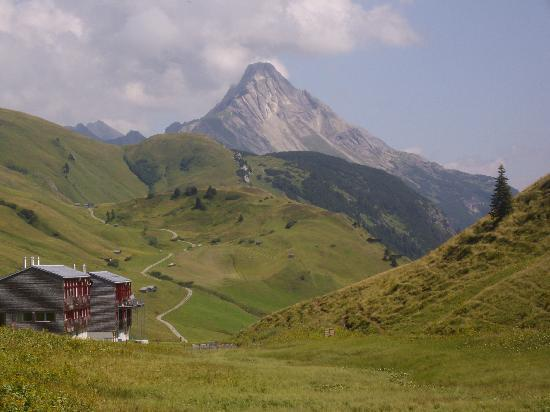 Gasthof Alpenhof: vue de la chambre d'hotel