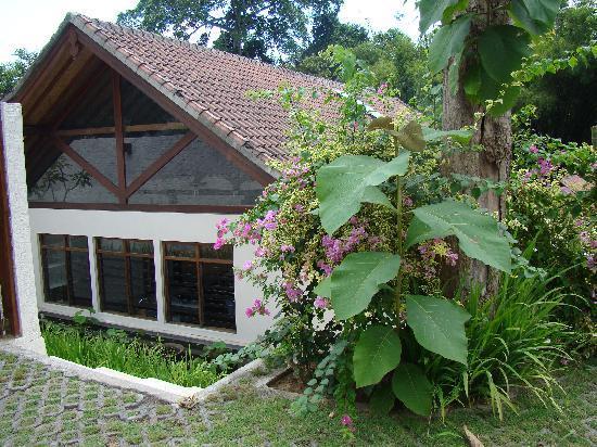 Villa Uma River: villa; cadre de verdure et baies vitrées