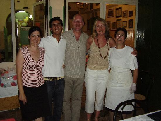 Hotel Villa Kristina: The wonderful staff at U Lantirnaru
