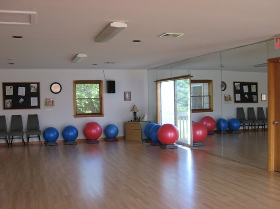 The Spa at Grand Lake: large, well-equipped fitness room
