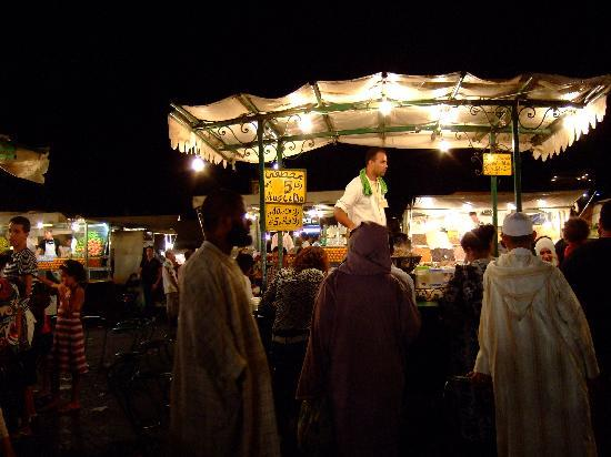 Riad Assala: Night market Jma El Fna