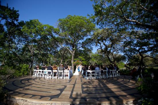 The Red Corral Ranch: the labyrinth in April was a great place for the ceremony
