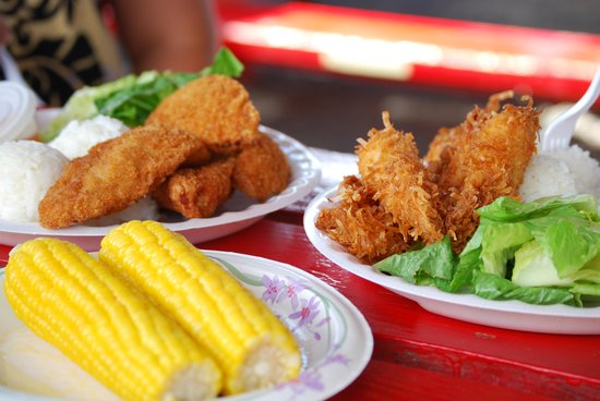 Fumi's Kahuku Shrimp Truck: Coconut shrimp at Fumi's