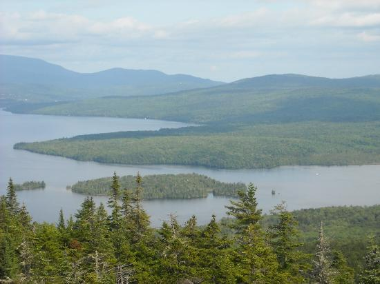 Rangeley, Мэн: view from top of Bald Mountain Hike