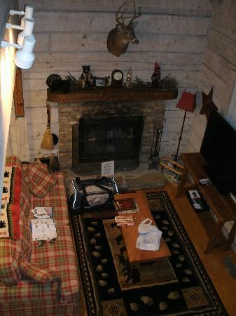 Uncle Bud's Log Cabins: Living Room at Cozy Creek