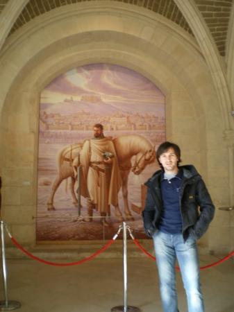 บูร์โกส, สเปน: Burgos, España  Mural del Cid Campeador