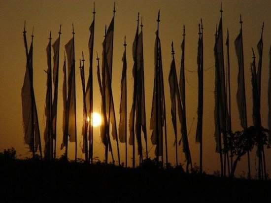 Punakha, ภูฏาน: player flags