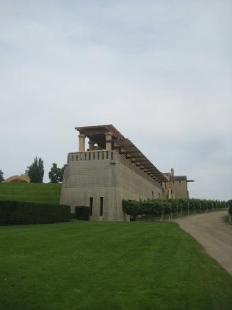 Mission Hill Family Estate Winery: The Terrace where we enjoyed MORE wine and cheese