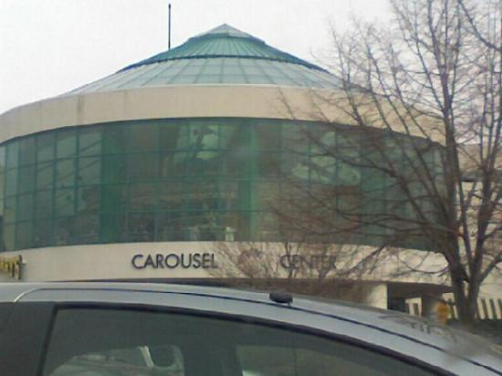 Syracuse, NY: Carousel view from the outside of the mall