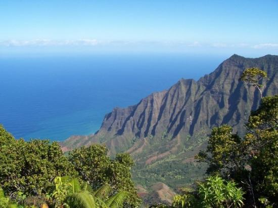 Nā Pali Coast State Park: The Napali Caost Hawaii.  Scott and I hiked to the summit and this was the view waiting for us.