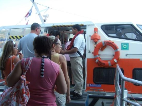 """Zihuatanejo, Mexico: the """"tender"""" boat we had to use to get ashore"""
