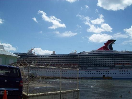 Cruise Ship In The New Royal Caribbean Dock  Picture Of Roatan Bay Islands