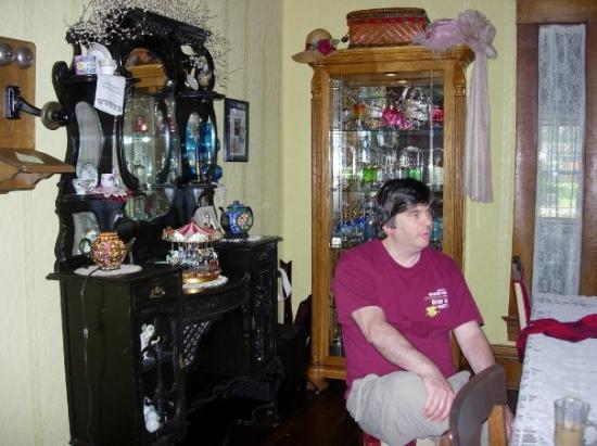 Whistle Stop B & B: Jon in the breakfast room
