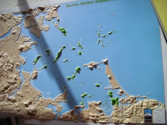 Boston Harbor 3D map Picture of Boston Harbor Cruises Boston