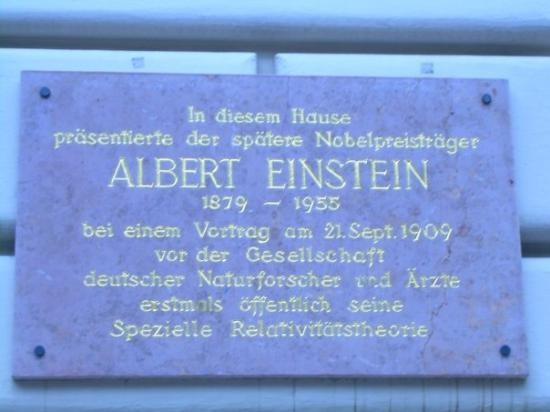 Salzburger Altstadt: Salzburg Austria We came across by mistake. Its a plaque reading that this is where Albert Eins