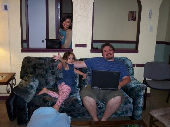 Happy Club & Motel: 2/3rds of my kids and I
