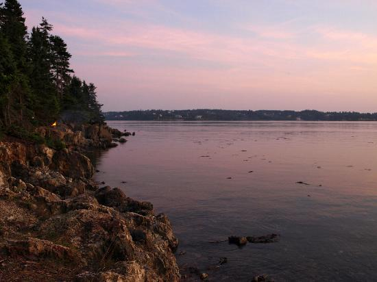 Deer Island Point Park Campground: Southern Sunset View From Our Campsite