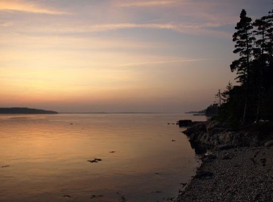 Deer Island Point Park Campground: Northern Sunset View From Our Campsite
