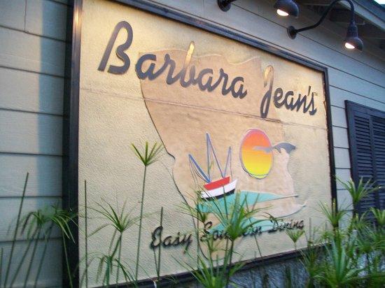 Barbara Jean's Restaurant: Restaurant sign