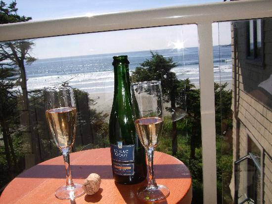 Long Beach Lodge Resort: view from our deck...& complimentary champagne!
