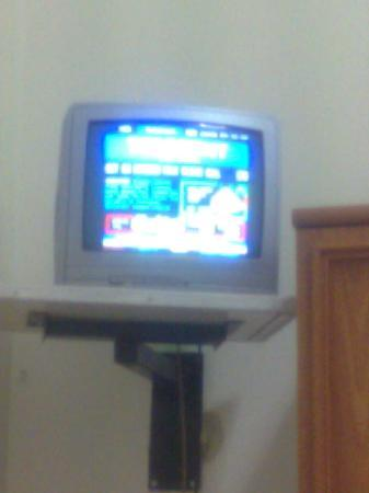 Corbigoe Hotel: It's the television in the room.