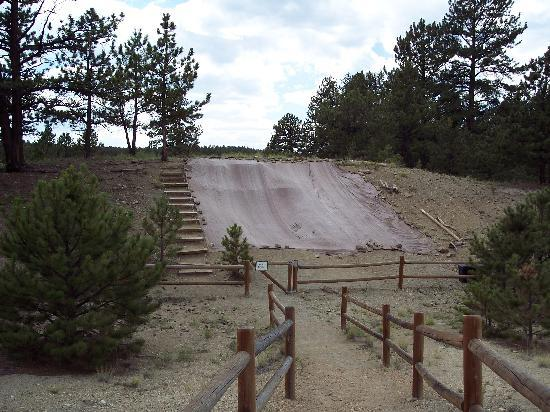 Florissant Fossil Beds National Monument: Covered excavation site