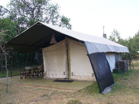 Mara Siria Camp: A typical tent.