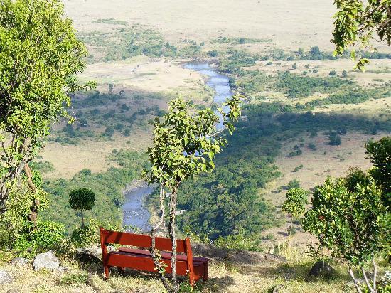 Mara Siria Camp: Great views from the camp towards the Mara River