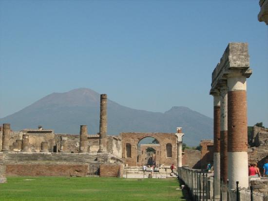 Villa Garden Hotel: Vesuvius from Pompeii