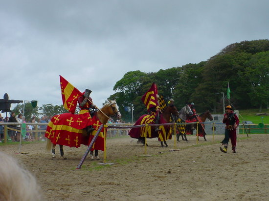 East Lulworth, UK : Jousting