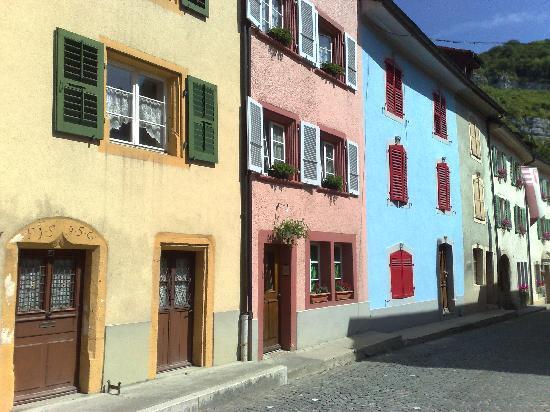 Hotel de la Demi-Lune: Street scee, St Ursanne