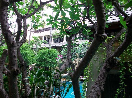 บุราส่าหรี รีสอร์ท: elite pool access room - looking up into the hotel