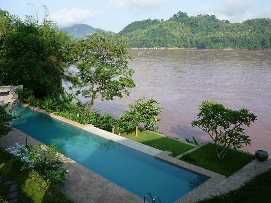 Mekong Estate : Vue de la maison rouge