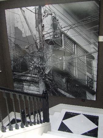 Hotel 1898: stairwell art