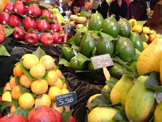 Barcelona, Spanien: Food in La Boqueria market