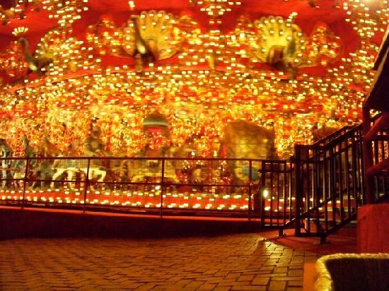 House on the Rock: The carousel, done up in bordello style