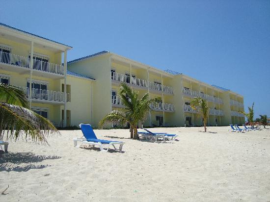 Wyndham Reef Resort: The Reef Resort buildings from the beach