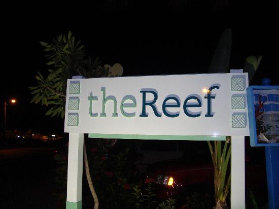 Wyndham Reef Resort: The Reef sign