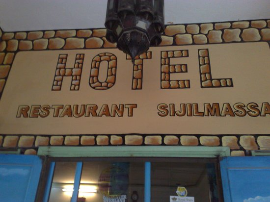 Hotel Sijilmassa: tasteful signage