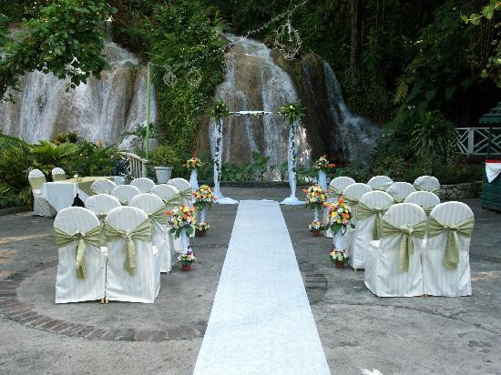 The Ruins at the Falls : The wedding ceremony