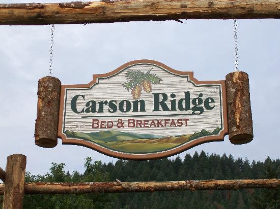 Carson Ridge Luxury Cabins: The sign at the entrance