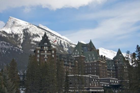Fairmont Banff Springs: The historic Banff Springs Hotel! Way too posh for us, though- we didn't stick around for very