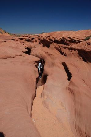 oops- sideways, but the earth going into Antelope Canyon.