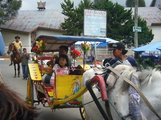 Berastagi, إندونيسيا: Naik kuda di Brastagi