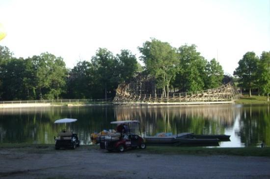 Lake Rudolph Campground & RV Resort: The roller coaster veiw of Holiday world, from our camper.