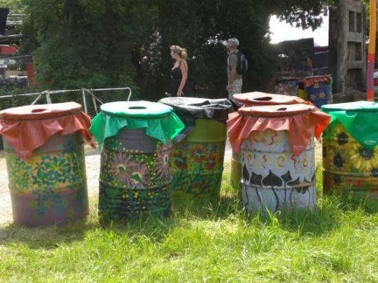 Glastonbury, UK: There were about a million of these bins all over the place