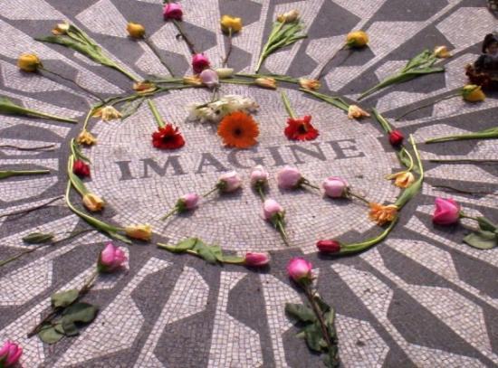 """Strawberry Fields, John Lennon Memorial: """"Imagine all the people living life in peace.""""--John Lennon"""