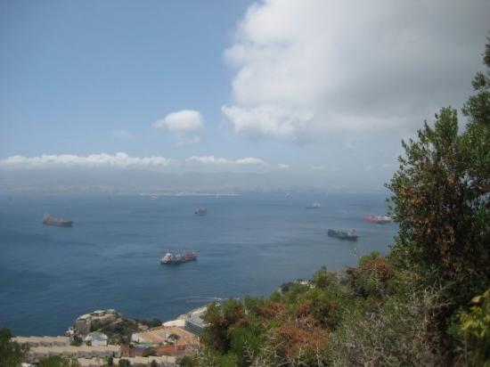 The Rock of Gibraltar: Strait of Gibraltar/Mediterrainian Sea
