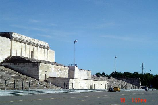 Ehemaliges Reichsparteigelände: The Podium used by Hitler to rally the faithful