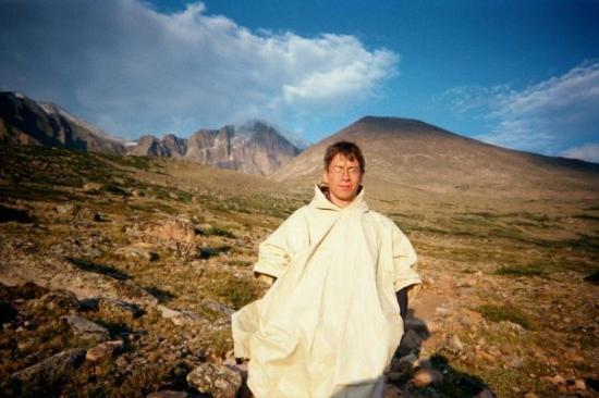 เอสเตสพาร์ค, โคโลราโด: Enrique at Chasm Lake on the East Face of Longs Peak, Estes Park, CO